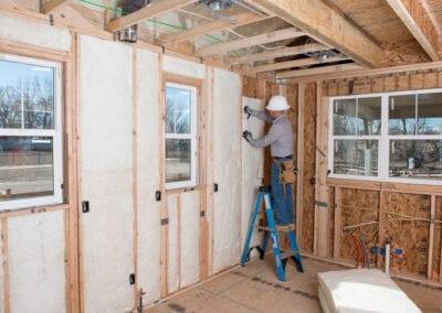 Austin Company | Fiberclass residential insulation in home