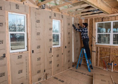Austin Company | installing fiberglass in home